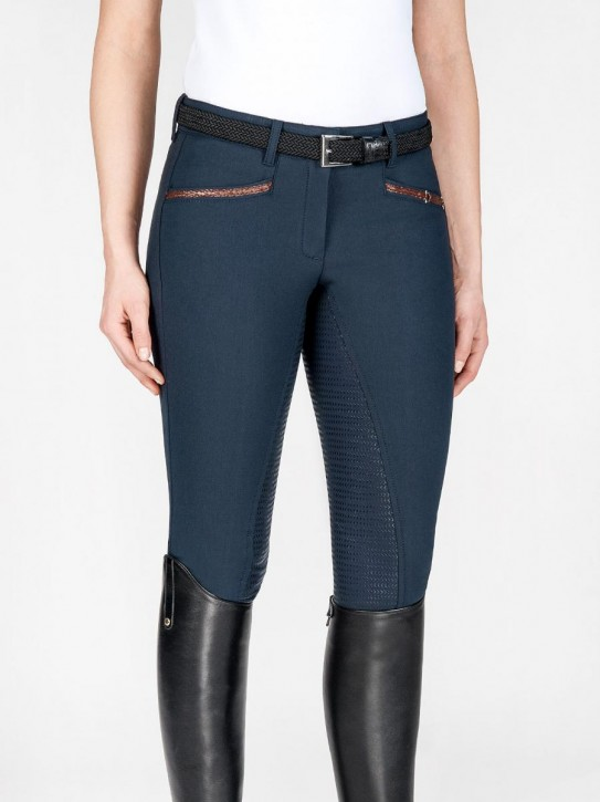 Equiline Damen Vollgrip Reithose Dionne navy Gr. 34 (it. 38)