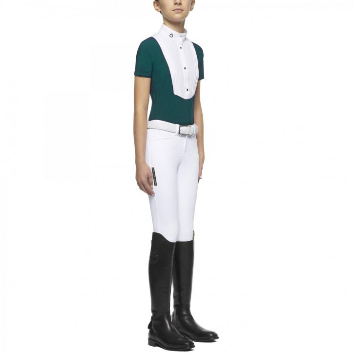 Cavalleria Toscana Kinder Turniershirt Smaragdgrün