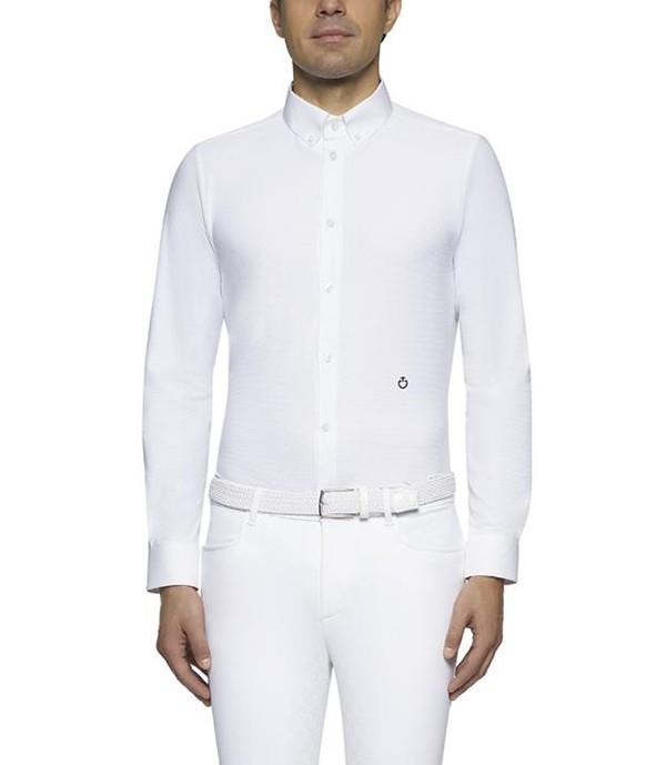 Cavalleria Toscana Langarm Turniershirt Guibert weiß