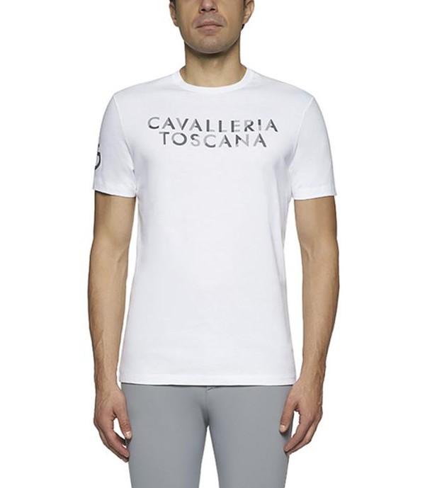 Cavalleria Toscana Herren Embossed Shirt Weiß