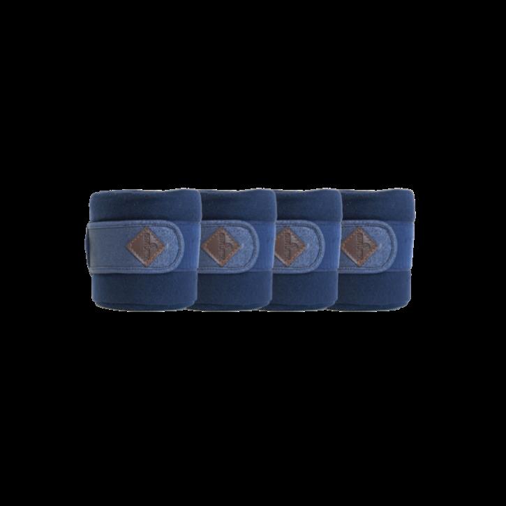 Kentucky Fleecebandagen Glitter blau