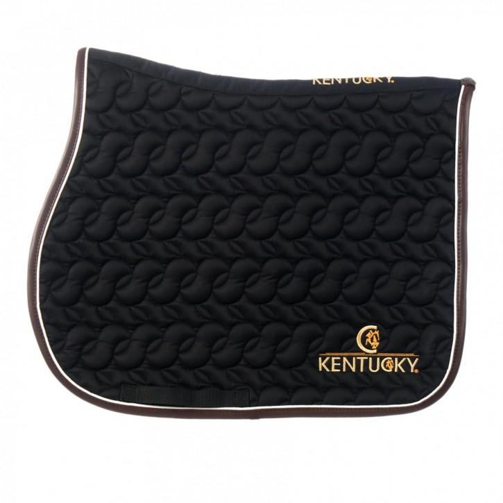 Kentucky Schabracke Springen mit Logo schwarz
