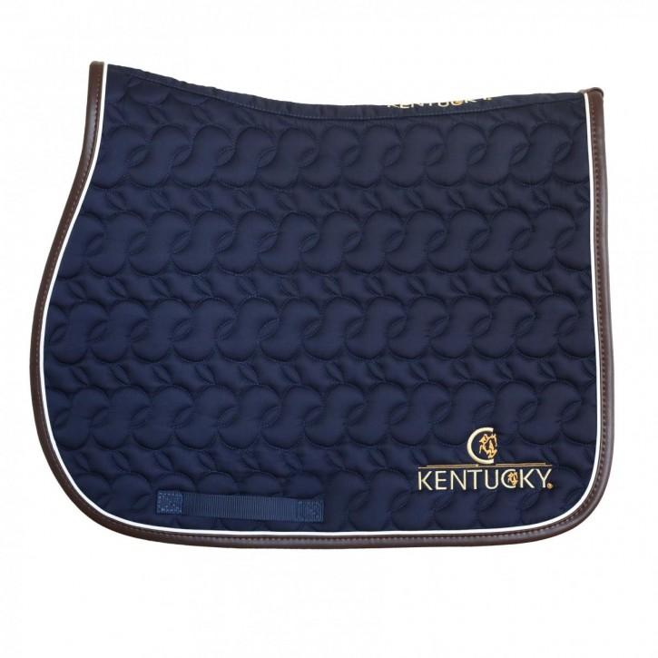Kentucky Schabracke Springen mit Logo blau