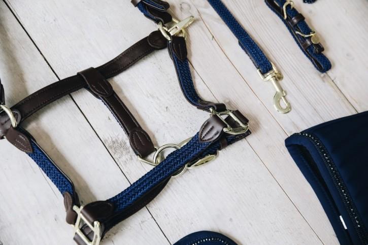 Kentucky Nylon Halfter geflochten blau