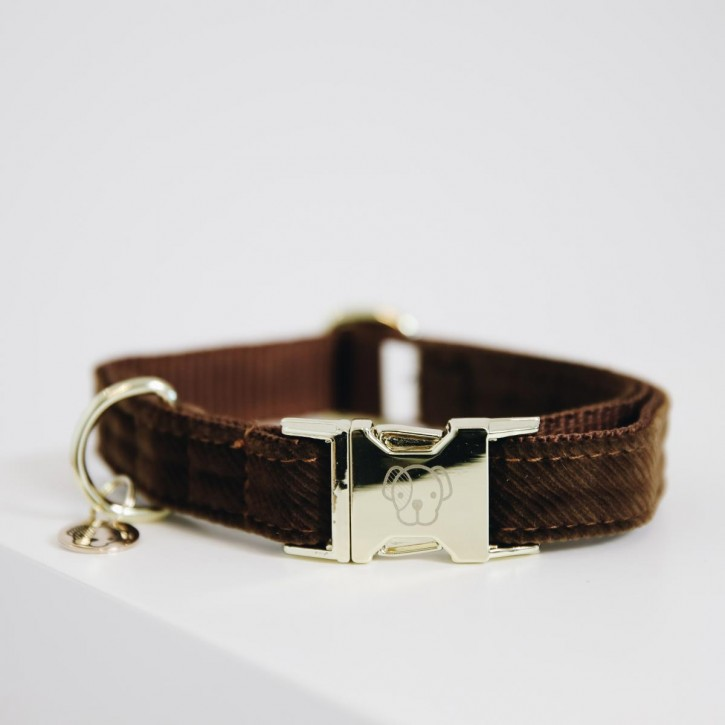 Kentucky Hundehalsband Corduroy braun