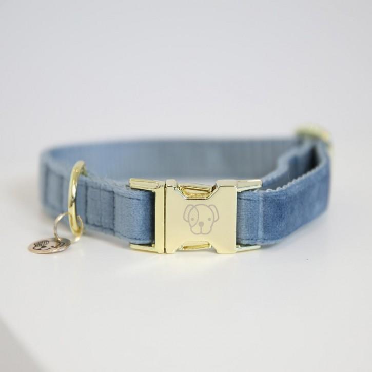 Kentucky Hundehalsband Velvet hellblau