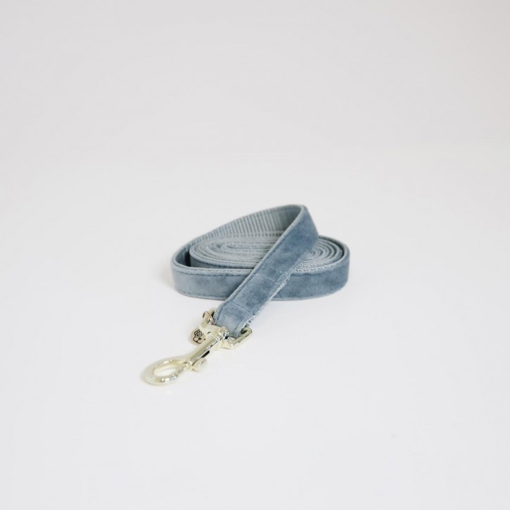 Kentucky Hundeleine Velvet hellblau 120cm