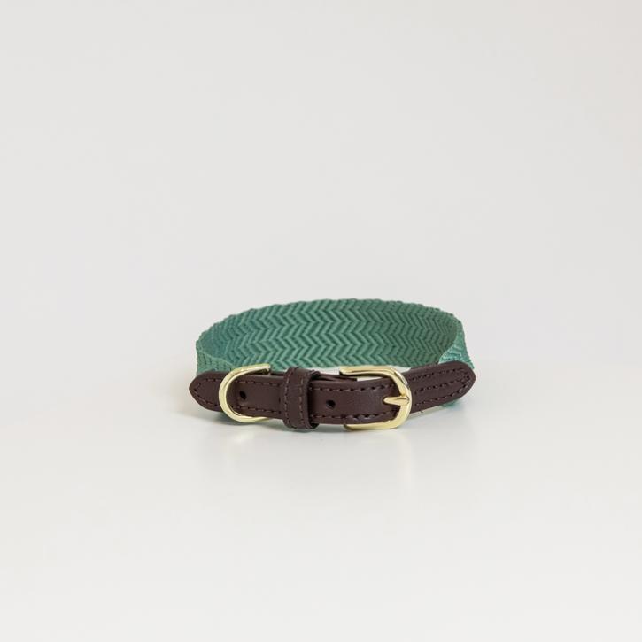 Kentucky Hundehalsband Jacquard olivgrün