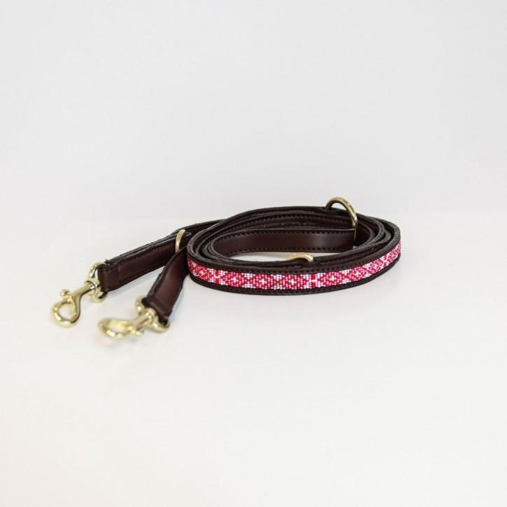 Kentucky Hundeleine Pearls pink
