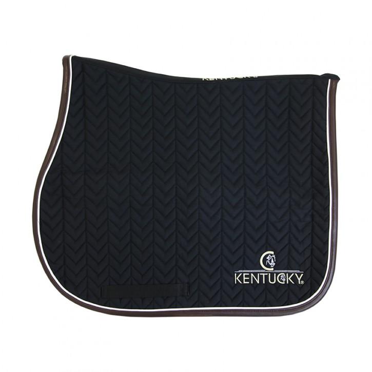 Kentucky Schabracke Springen FISHBONE mit Logo schwarz