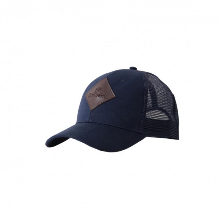Kentucky Trucker Cap Leder blau
