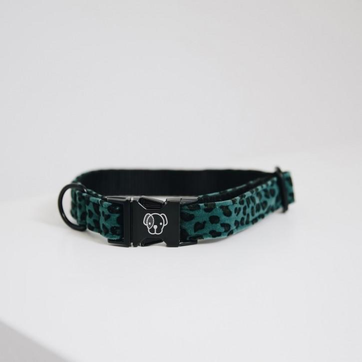Kentucky Hundehalsband Leopard dunkelgrün
