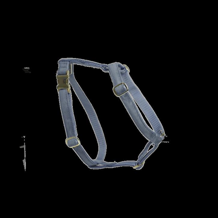 Kentucky Hundegeschirr Loop Velvet hellblau