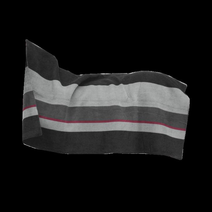 Kentucky Heavy Fleece Square Stripes 210 x 200 Schwarz