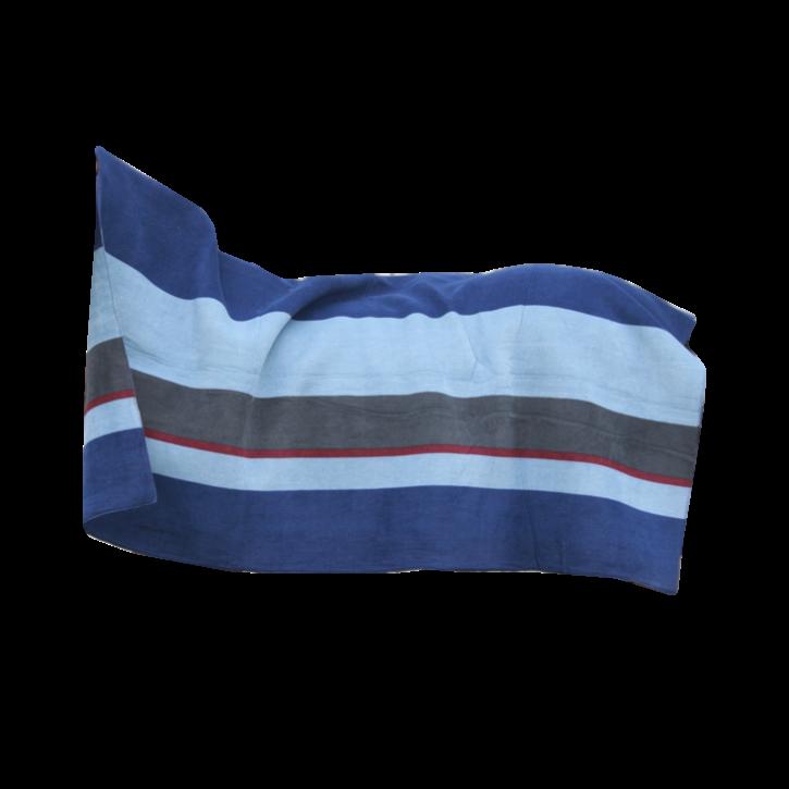 Kentucky Heavy Fleece Square Stripes 210 x 200 Blau