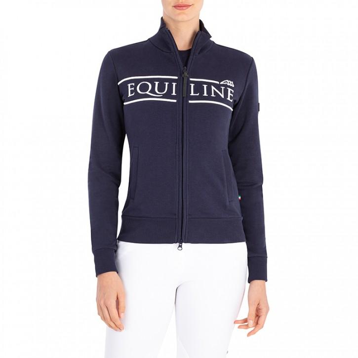 Equiline Damen Zip-Sweater Cedorac Navy