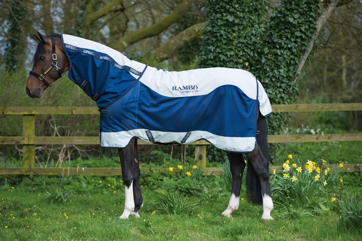 Horseware Rambo Summer Series Turnout Navy/Silber