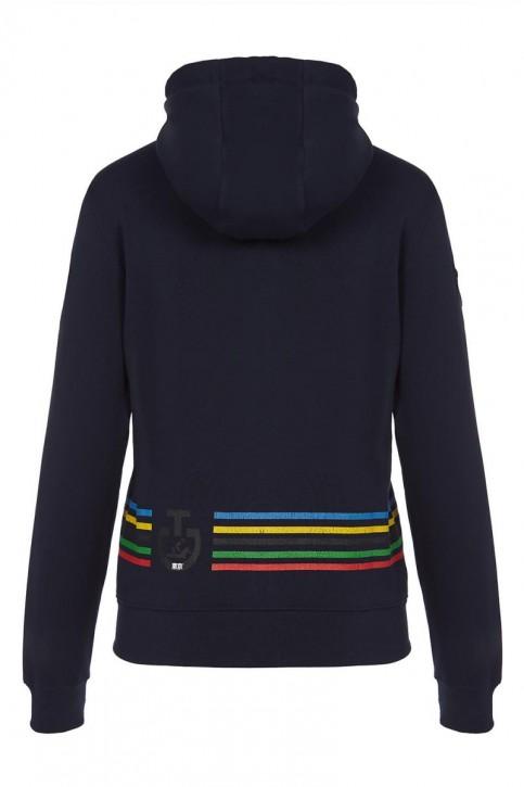 Cavalleria Toscana Herren Sweatjacke Hoodie Logo Blau