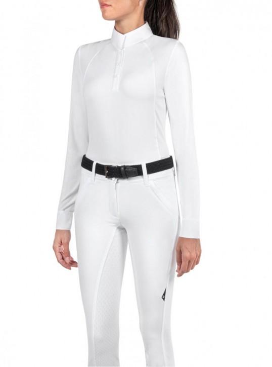 Equiline Damen Turnierpoloshirt Gitak weiß