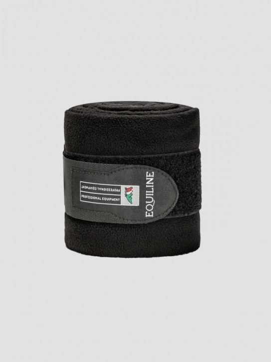 Equiline Polo Fleecebandagen schwarz Full