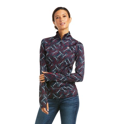 Ariat Damen Trainingsshirt Langarm Bridle Print Navy