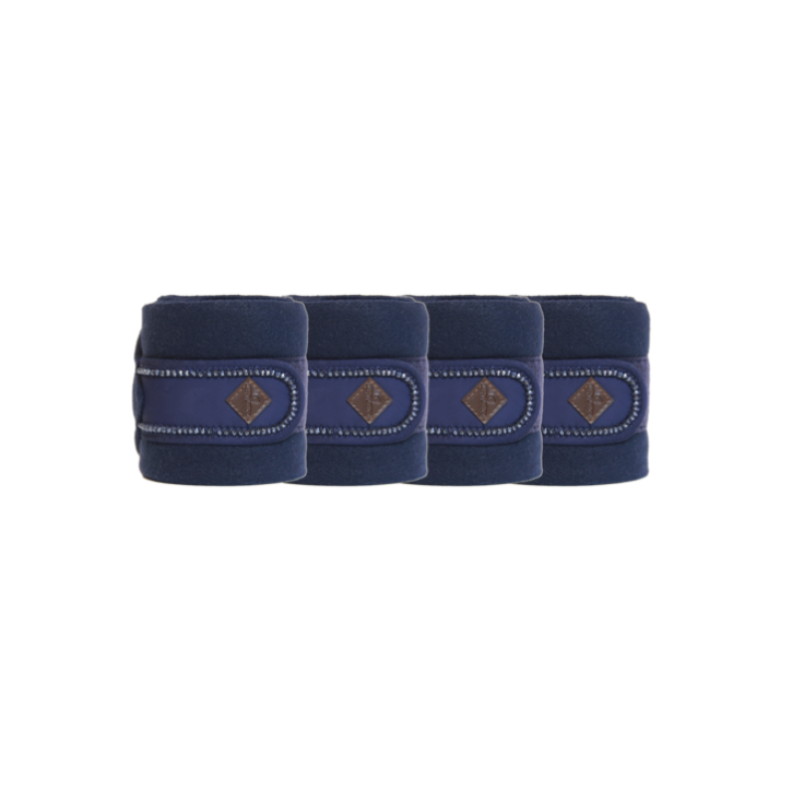 Kentucky Fleecebandagen Pearls blau