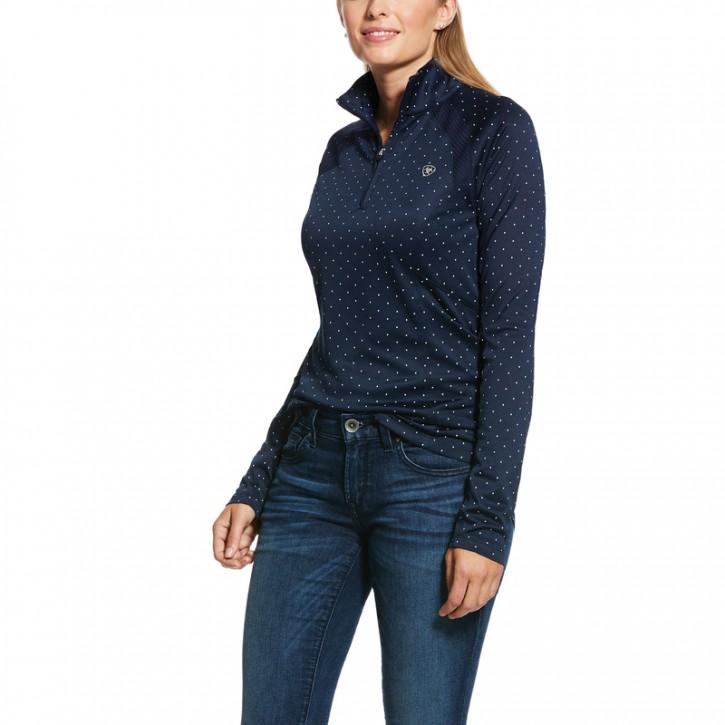 Ariat Damen Trainingsshirt Langarm Sunstopper Navy-Dots
