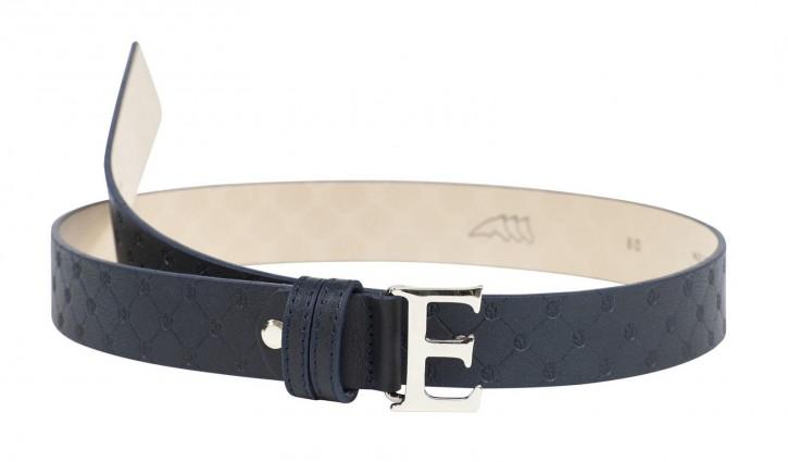 Equiline Ledergürtel blau