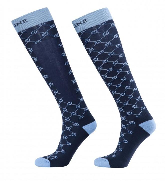 Equiline Socken EREBUSE grau - Muster Dunkelblau