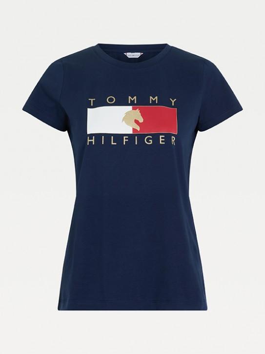 Tommy Hilfiger Equestrian Damen T-Shirt Navy