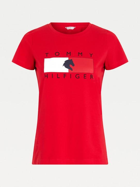 Tommy Hilfiger Equestrian Damen T-Shirt Rot
