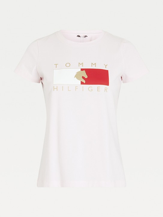 Tommy Hilfiger Equestrian Damen T-Shirt Hellrosa