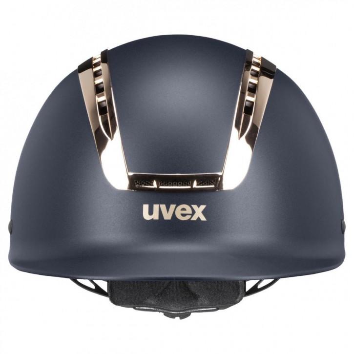 Uvex Reithelm Suxxeed Chrome blau-coralle