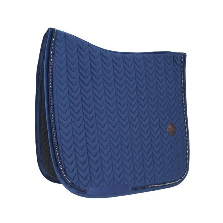 Kentucky Schabracke VELVET Pearls Dressur blau