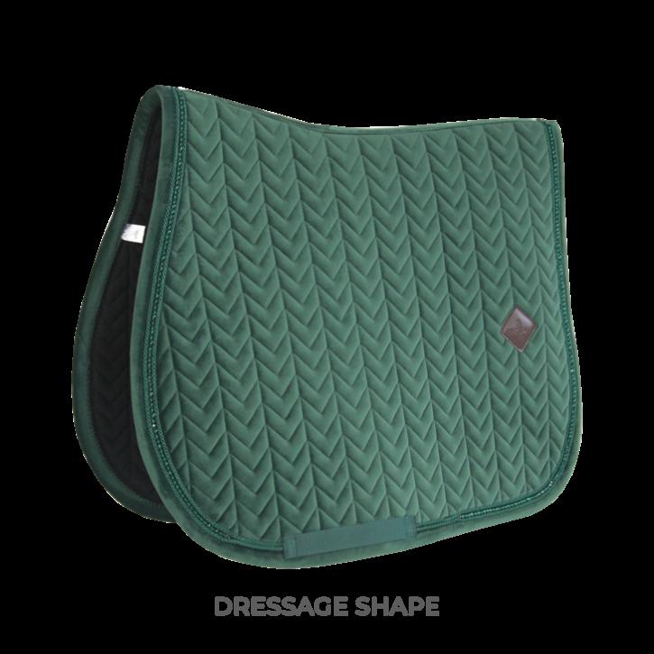 Kentucky Schabracke VELVET Pearls Dressur dunkelgrün