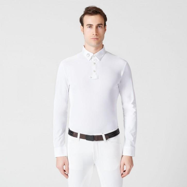 Vestrum Herrenturniershirt Ketchum weiß langarm
