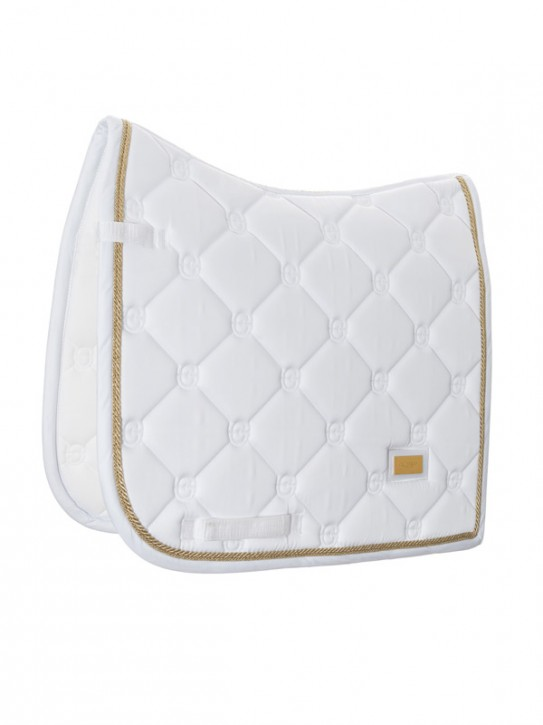 Equestrian Stockholm Dressur Schabacke White Perfection Gold Full