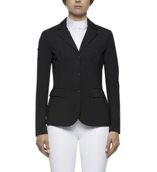 Cavalleria Toscana perforiertes Damen Turnier Jacket Schwarz