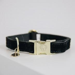 Kentucky Hundehalsband Corduroy schwarz