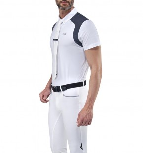 Equiline Herren Turniershirt Elio weiß XL