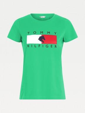 Tommy Hilfiger Equestrian Damen T-Shirt Grün