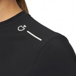 Cavalleria Toscana R-EVO Damen Trainingsshirt Perforiert Schwarz